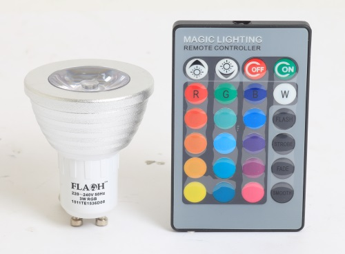Rgb Led Lamp : W e rgb led bulb v lampada lamp light high