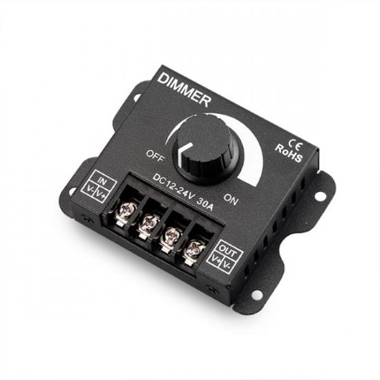 LED Strip Lights 5V/12V/24V-Manual 12V-DC 30A LED Dimmer (360W) 1CH