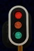 3 Aspect 200mm LED Traffic Ball Signal Light Assembly (backboard incl)