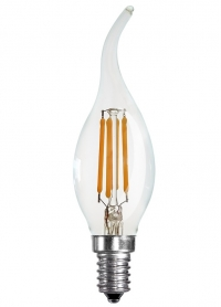 Flame Tip Candle 4W Warm White LED Filament, E14 (Dimmable)